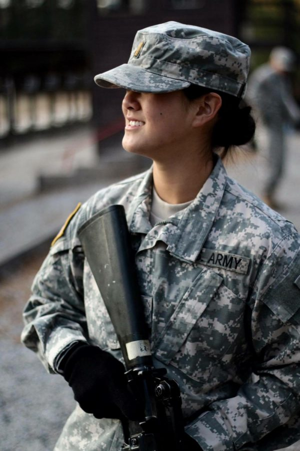 A-West math teacher Emily Wu is also an officer in the Army Reserves.