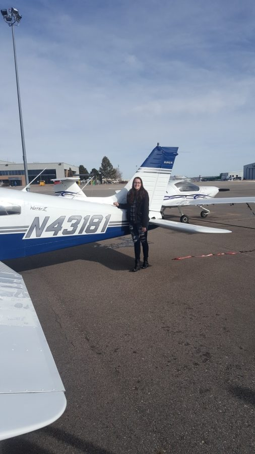 Lexi Beuthel stands in front of her plane. Photo courtesy of Lexi Beuthel.