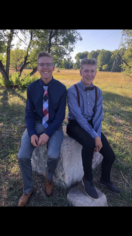 Twins Zach (left) and Tyler Tyson. Photo courtesy of Zach Tyson.