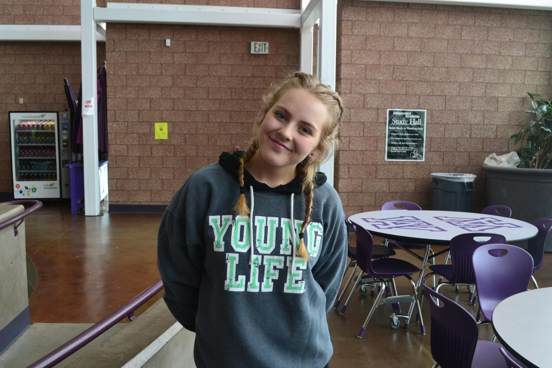 Freshman Vivienne Schack.