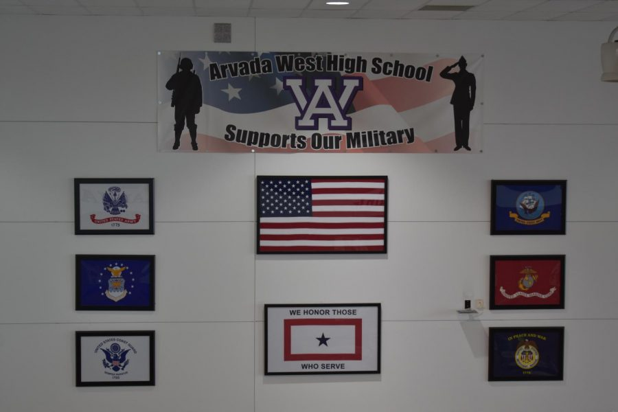 A display in the commons at Arvada West.