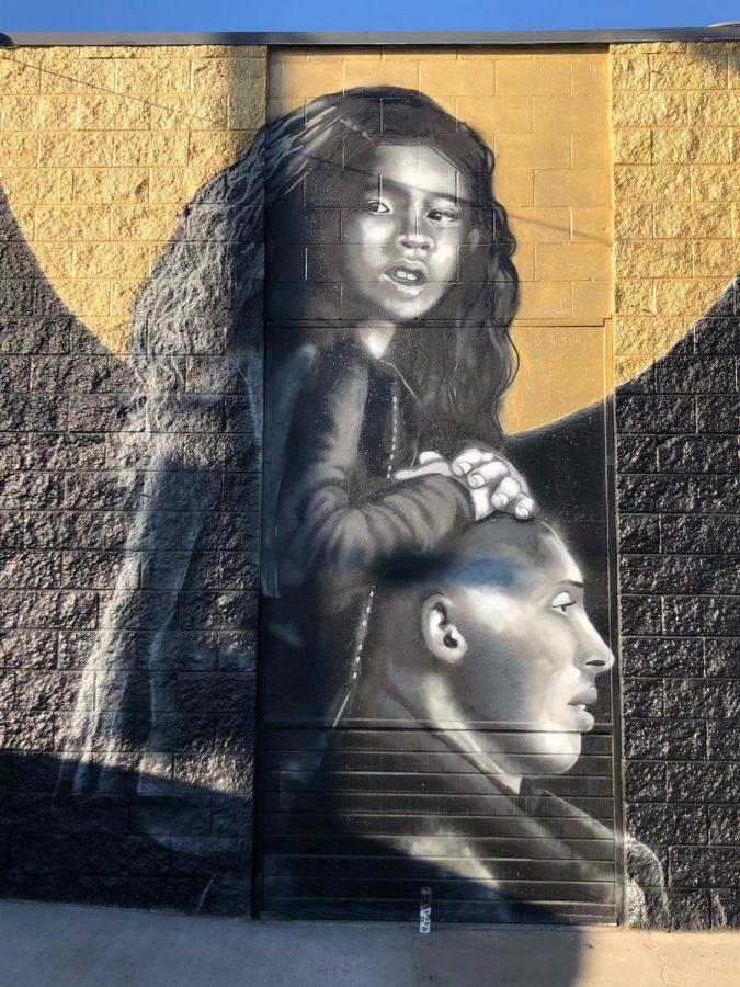 %22I+Lift+You+Up%22+painting+of+Gianna+and+Kobe+Bryant.+Photo+courtesy+of+Janine+Robinson+via+Unsplash.