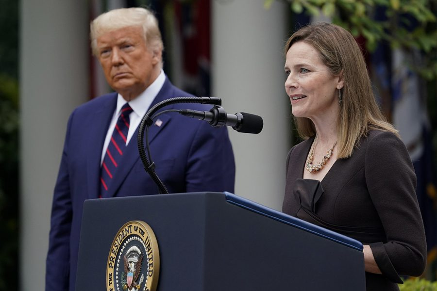 President Trump's Supreme Court nomination of Amy Coney Barrett will radically alter women's rights if elected