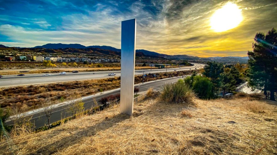A mysterious monolith showed up in Santa Clarita over the weekend, then quickly disappeared. It is one of many monoliths popping up around the world.