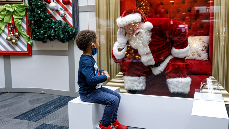 Trips to go see Santa at the local mall are one of the many holiday traditions that look drastically different this year due to COVID-19.