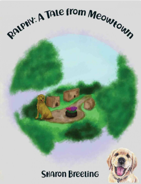 """Christenson illustrates,""""Ralphy: A Tale from Meowtown"""" by Sharon Breeling."""